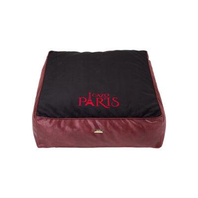 Paris bőr matrac kutyáknak - fekete