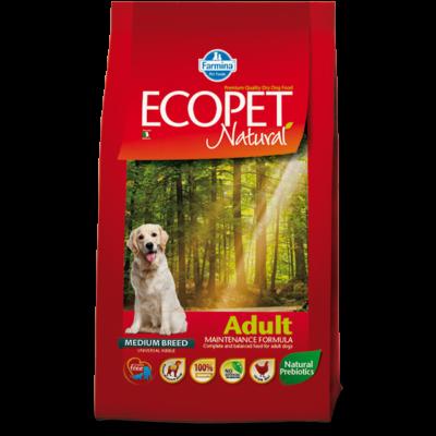 Ecopet Natural Adult Medium 2,5kg - Felnőtt közepes testű fajta 2,5kg