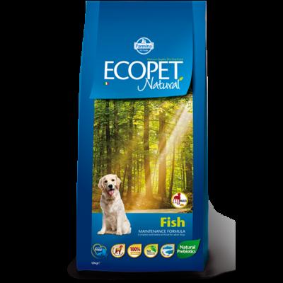 Ecopet Natural Fish Maxi 14kg - Felnőtt nagytestű fajta hallal 14kg