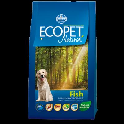 Ecopet Natural Fish Medium 14kg - Felnőtt közepes testű fajta hallal 14kg