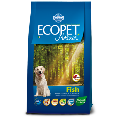 Ecopet Natural Fish Mini 14kg - Felnőtt kistestű fajta hallal 14kg