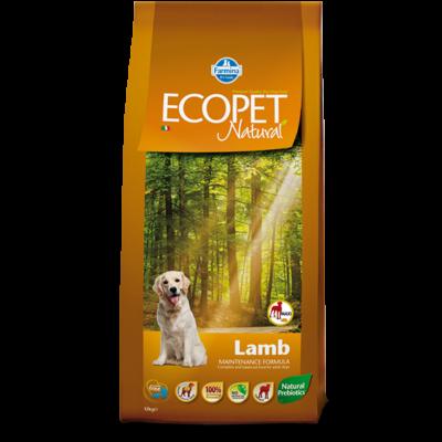 Ecopet Natural Lamb Maxi 14kg - Felnőtt nagytestű fajta báránnyal (allergia és emésztési problémákra) 14kg