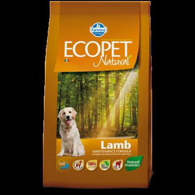 Ecopet Natural Lamb Medium 2,5kg - Felnőtt közepes testű fajta báránnyal (allergia és emésztési problémákra) 2,5kg