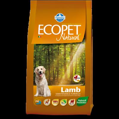 Ecopet Natural Lamb Mini 14kg - Felnőtt kistestű fajta báránnyal (allergia és emésztési problémákra) 14kg