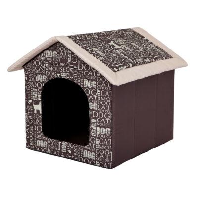 Szivacs kutyaház - feliratos, barna
