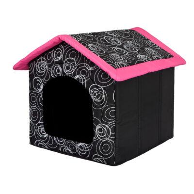 Szivacs kutyaház - fekete, rózsaszín