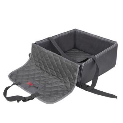 Fox kutya szállító, hordozó, ülésvédő autóba - Szürke