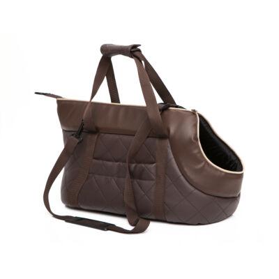 Bőr kutya hordozó táska - barna