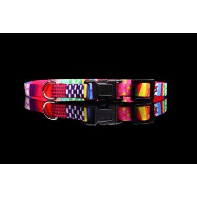 Mozaik nyakörv - Rózsaszín mozaik - 10 mm / 30-40cm