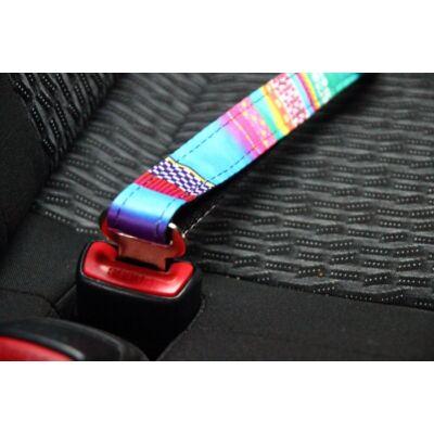 Autós biztonsági öv kutyáknak - kék mozaik