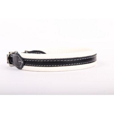 Soft Plus (Nikkel) bőr nyakörv - Fehér