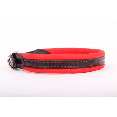 Soft Plus (Nikkel) bőr nyakörv - Piros