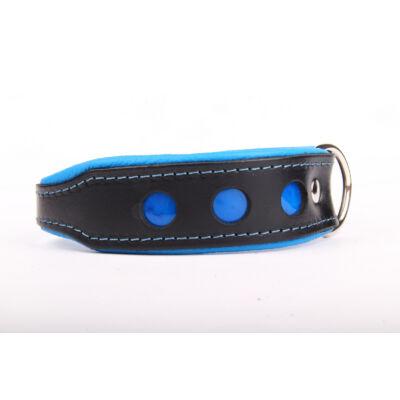NEO fényvisszaverő bőr nyakörv - Kék